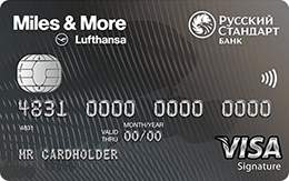 Дебетовая карта Русский Стандарт Miles & More Visa Signature